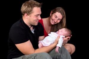 family photo newborn baby